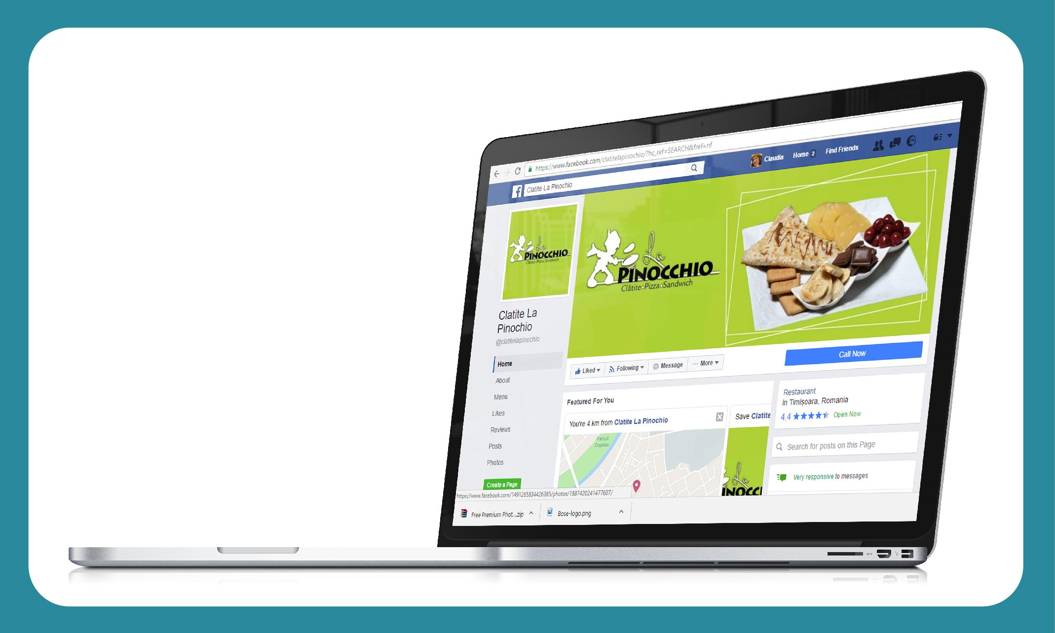Promovare facebook Pinocchio
