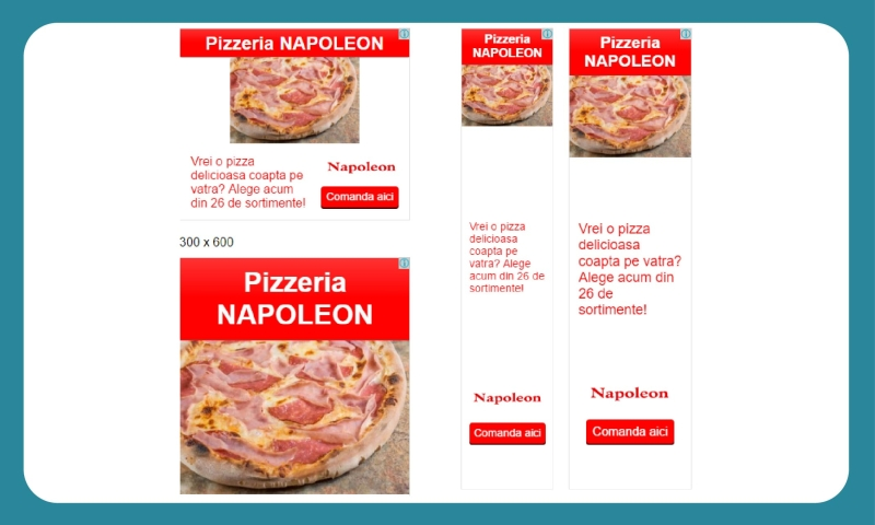 Creare campanie adwords display pizzeria Napoleon