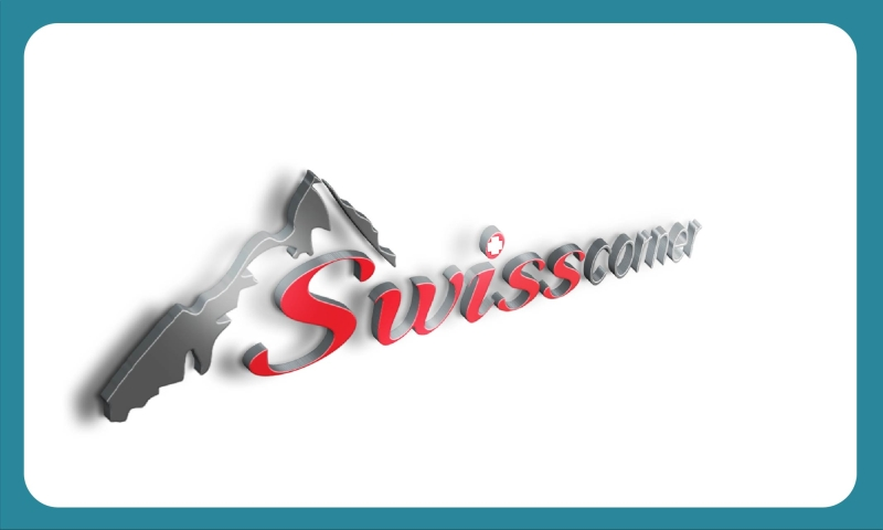Template logo Swiss Corner realizat de Tell Agency